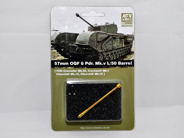 Afv Club - 57mm OQF 6 Prd. Mk.V L/50 Barrel