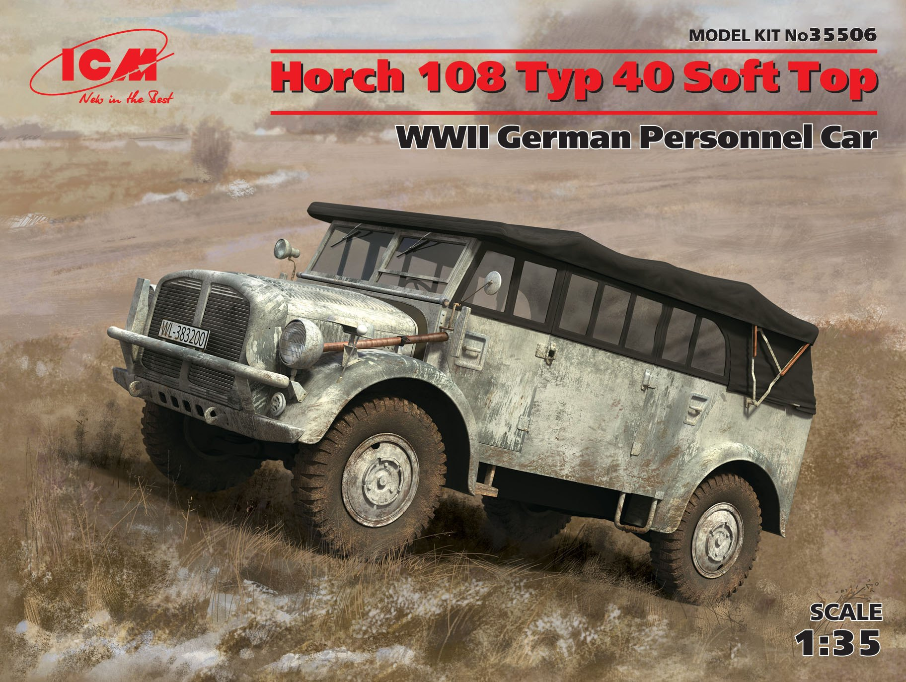 ICM - Horch 108 Typ 40 Soft Top, WWII German Personnel Car