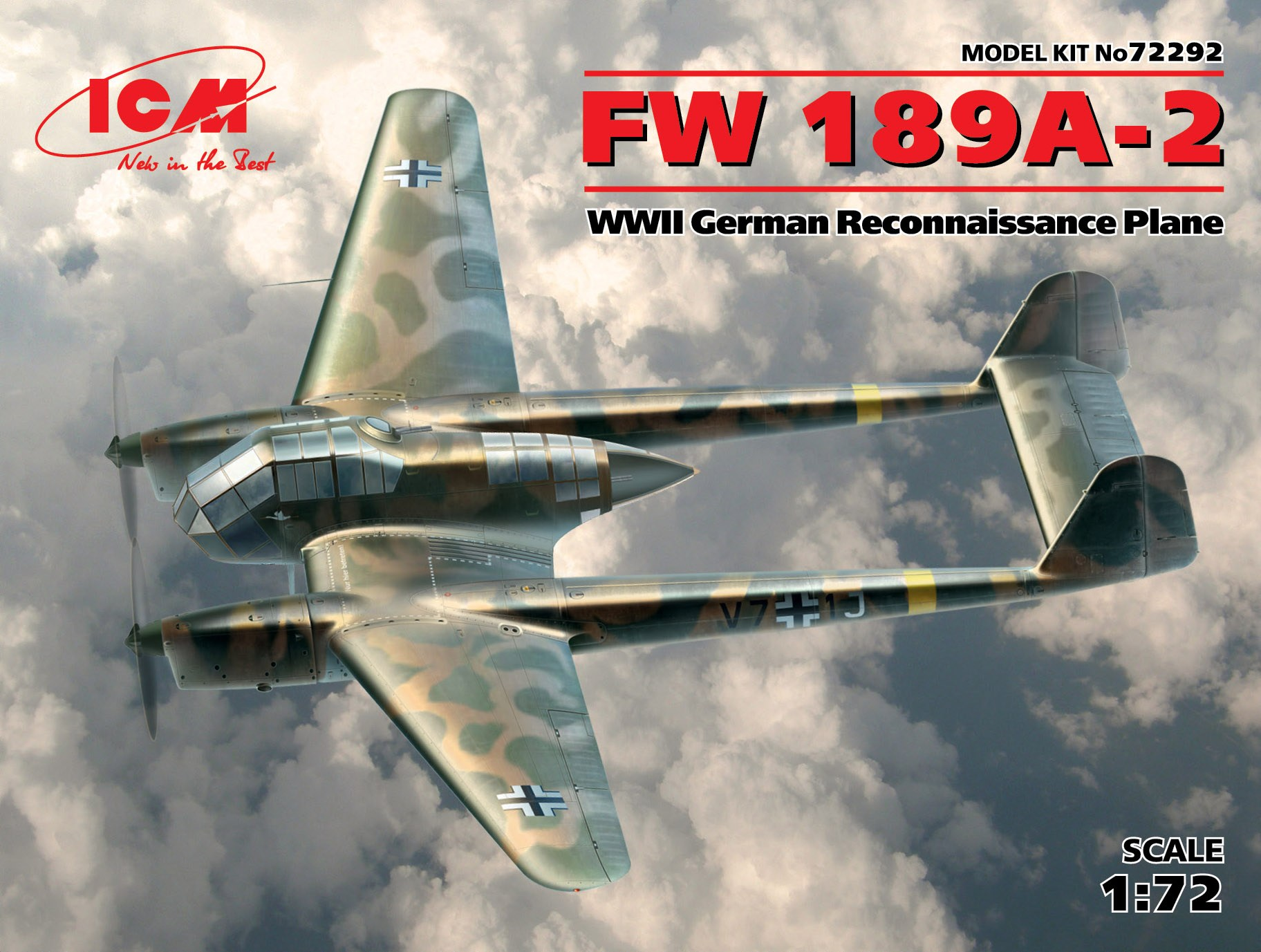 ICM - FW 189A-2. WWII German Reconnaissance Plane