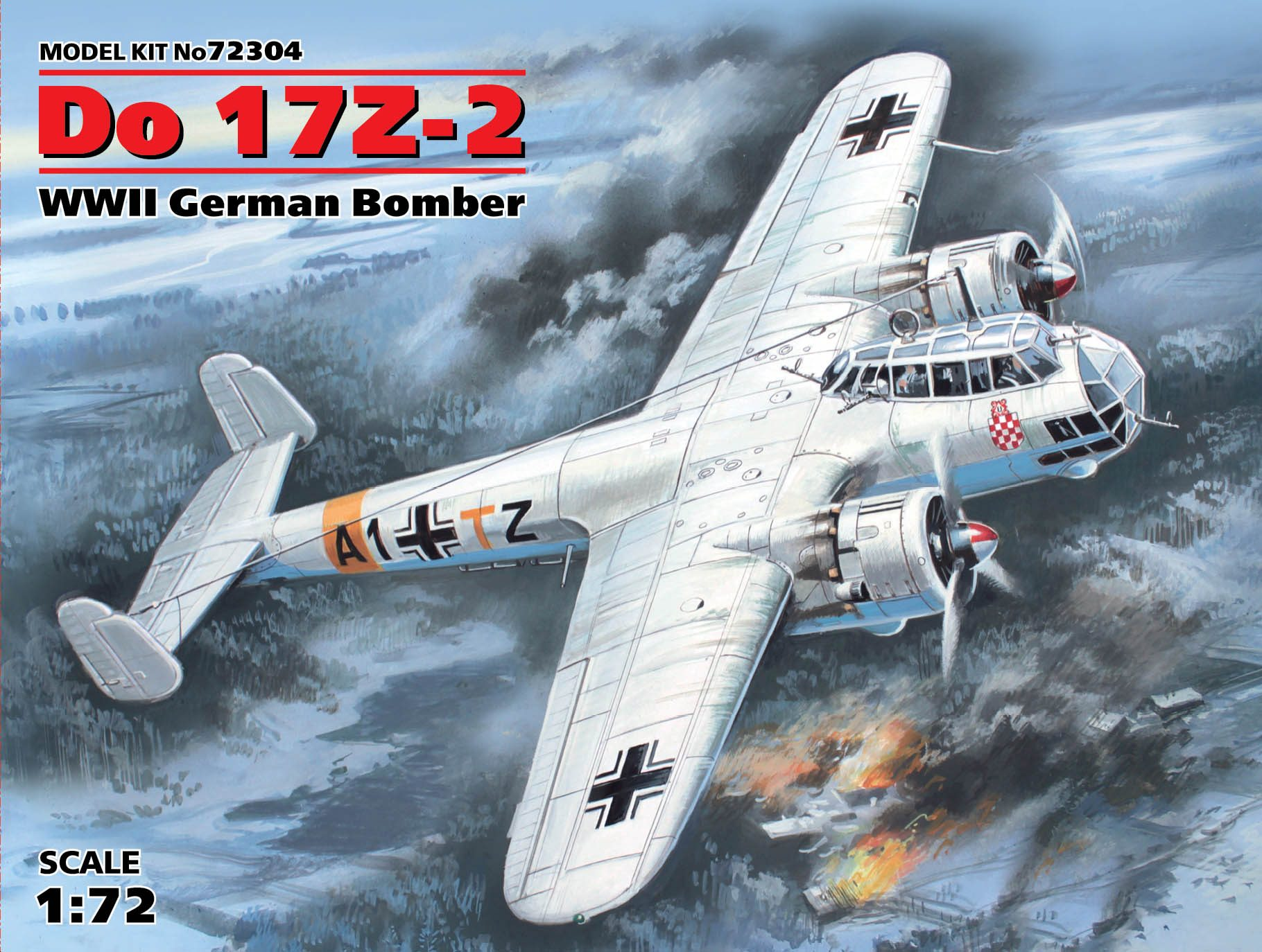 ICM - Do 17Z-2. WWII German Bomber