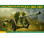 ACE 72522 - S.A:I Mle 1937 French 25mm anti-tank gun