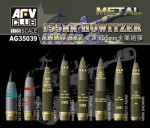 Afv Club AG3539 - NATO 155mm Howitzer Ammo Set (Brass)
