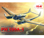 ICM 72291 - FW 189A-1. WWII German Reconnaissance Plane (100% new molds)