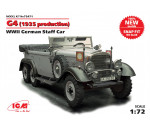ICM 72471 - G4 (1939 production), WWII German Staff Car (100% new molds)