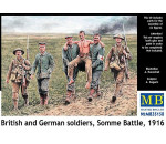 MasterBox 35158 - British and German soldiers,Somme Battle