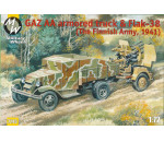Military Wheels 7243 - GAZ AA armored car truck & Flak-38, Fin