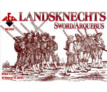 Red Box 72057 - Landsknechts (Sword/Arquebus) 16th centu