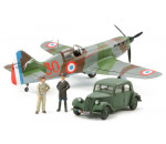 Tamiya 61109 - Dewoitine D.520 French Aces - W/Staff Car - 3 Figures