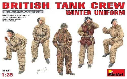 MiniArt - Britische Panzer Crew in Winteruniform